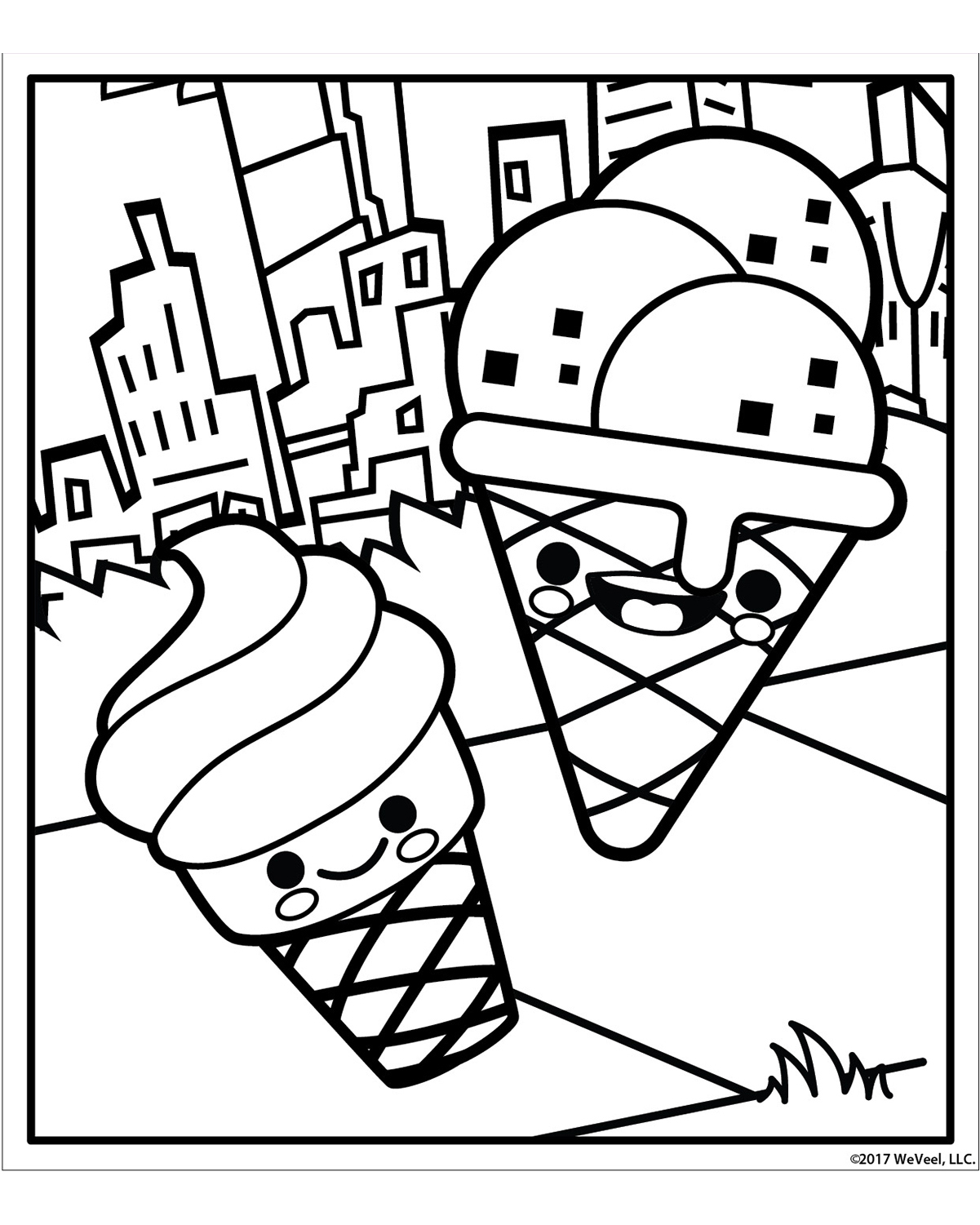 Sugar Rush Coloring Page